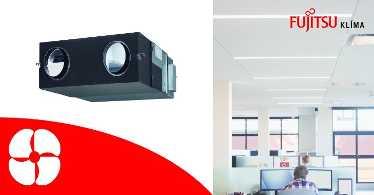 ERV hővisszanyerős ventilátor egység